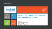 WS2012 File System Enhancements: ReFS and Storage Spaces