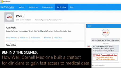 Behind the Scenes: How Weill Cornell Medicine built a chatbot for clinicians to gain fast access to medical data