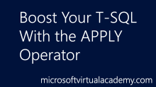Boost Your T-SQL With the APPLY Operator