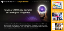Sampling samples with the new Sample Browser for Visual Studio 2012 and Visual Studio 2010