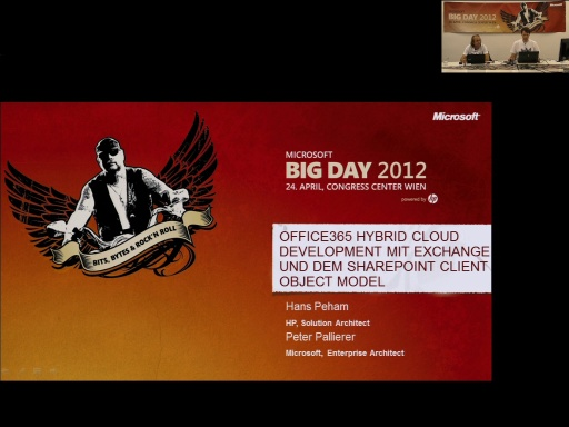 BigDay 2012 - Office365 Cloud Development mit Exchange, Lync APIs sowie dem SharePoint Client Object Model und Workflow
