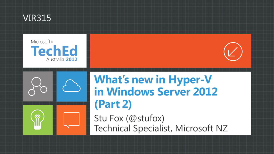 What's New in Windows Server 2012 Hyper-V, Part 2