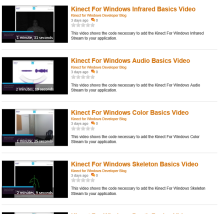 Kinect for Windows Developer [Channel 9 Video] Blog