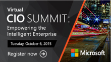 Save the Date! October 6, 2015 - Virtual CIO Summit
