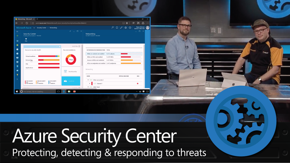 Protection via Azure Security Center. Detection and threat response overview.