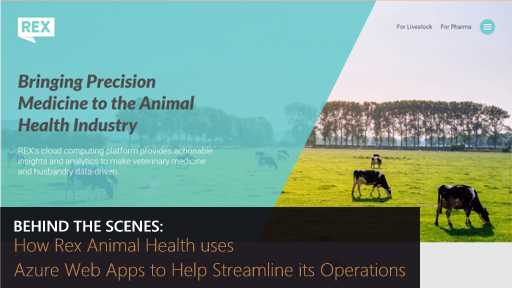 Behind the Scenes: How Rex Animal Health uses Azure Web Apps to Help Streamline its Operations
