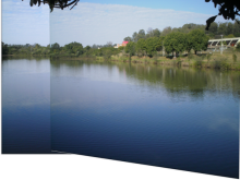 Accord.Net makes it easy to add Image Stitching/Panoramas to your application