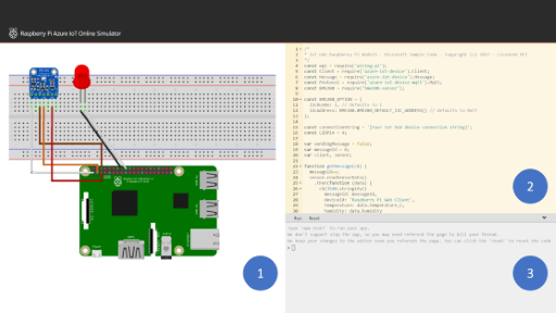 Raspberry Pi Online Simulator and Azure IoT
