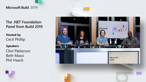 The .NET Foundation Panel from Build 2019
