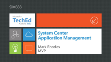 System Center 2012 Application Management