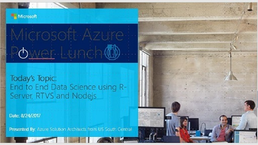End-to-end data science implementation on Azure using Microsoft R and NodeJs