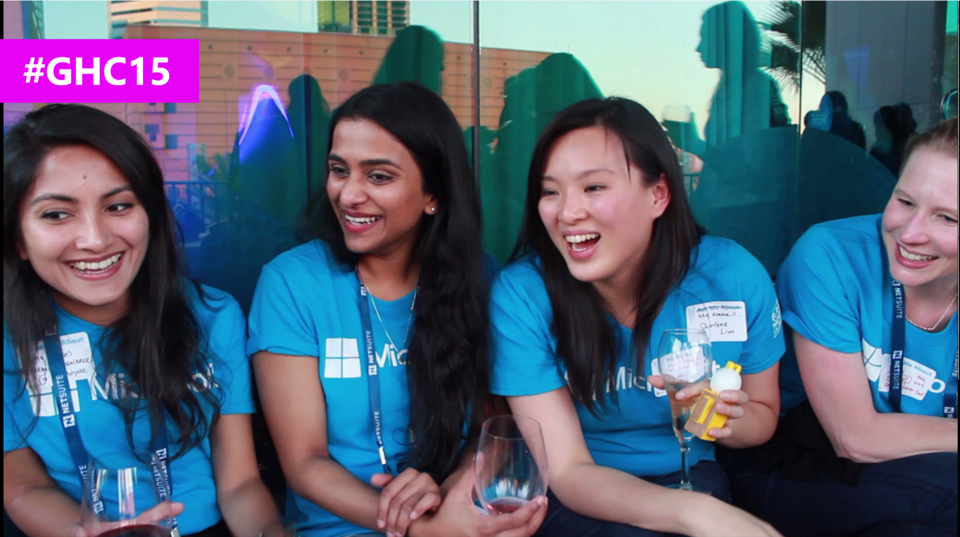 Interview with Women at Microsoft during the #GHC15 Microsoft party