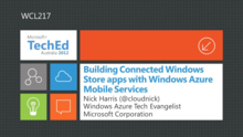 Building Connected Windows Store apps with Windows Azure Mobile Services