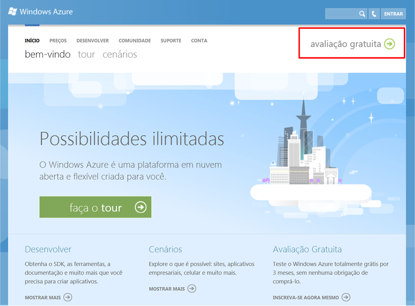 Windows Azure Home