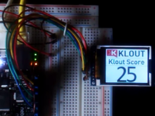 Klout Klock - Using Netduino to display your Klout