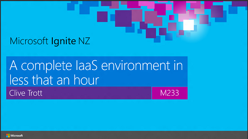 A complete IaaS environment in less than an hour