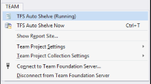 TFS Auto Shelve for Visual Studio 2015 (and 2013, 2012) Extension