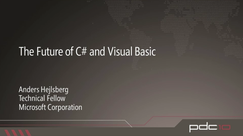 The Future of C# and Visual Basic