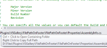 Current File Path on the Footer VS Extension