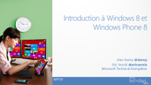 Introduction au développement Windows 8 et Windows Phone 8