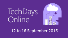 UK TechDays Online September 2016