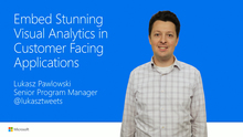 Embed visual analytics in customer-facing apps