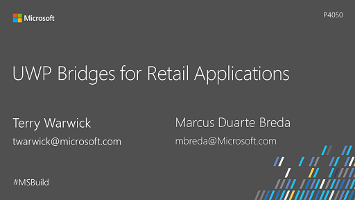 UWP Bridges for Retail Applications