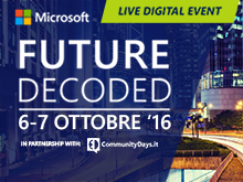 Future Decoded 2016 - Milano - Canale Tecnico