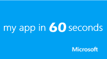 my app in 60 seconds