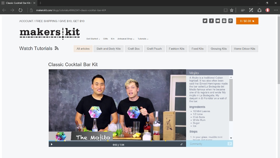 MakersKit Interactive Tutorial Player Demo