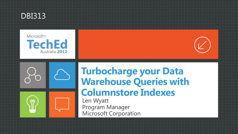 Turbocharging a Warehouse with Columnstore Indexes