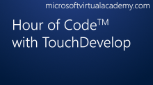 Hour of Code with TouchDevelop