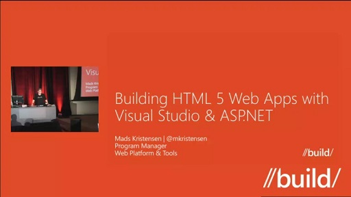 Building HTML 5 Web Apps with Visual Studio & ASP.NET