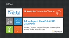 Ask an Expert: SharePoint 2013 Q&A Panel