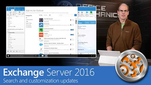 Exchange Server 2016 Smarter Inbox - Search and customization updates