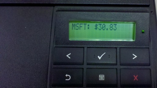 The HP Printer Display Hack (with financial goodness)