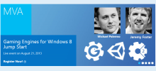 Jump Start Your Windows 8 Gaming Engine Dev. Eight hours, free and live...