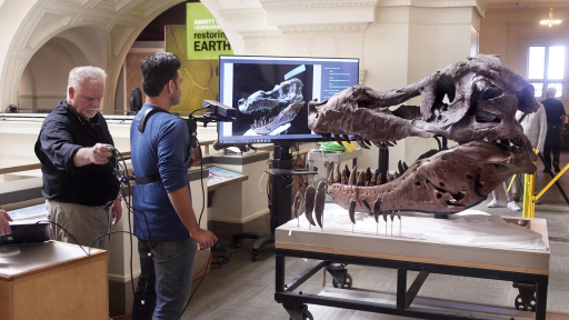 Kinect to a Giant T. rex Skull