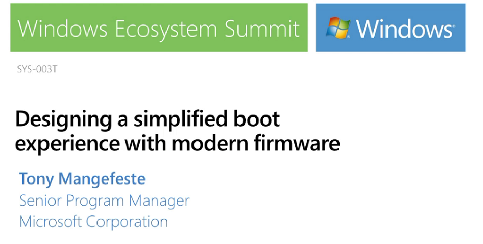 Designing a simplified boot experience with modern firmware