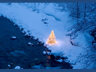 Fed Up With Snow Already? Warm Up Your Desktop With Holiday Lights