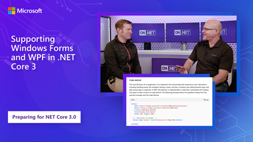 Supporting Windows Forms and WPF in .NET Core 3