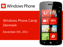 Windows Phone Camps Online Denmark