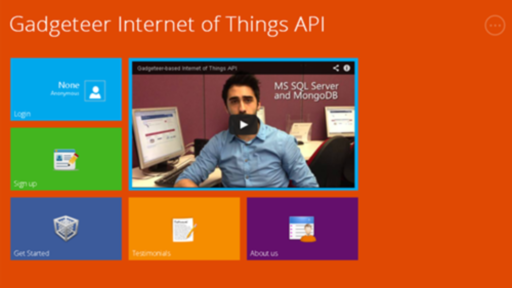 Gadgeteer Internet of Things API