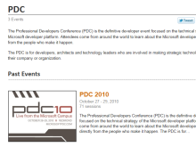 PDC Sessions now published on Channel 9