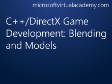 C++/DirectX Game Development: Blending and Models