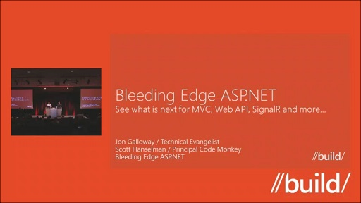Bleeding edge ASP.NET:  See what is next for MVC, Web API, SignalR and more…