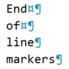 EOLM, End of the Line Markers Visual Studio Extension