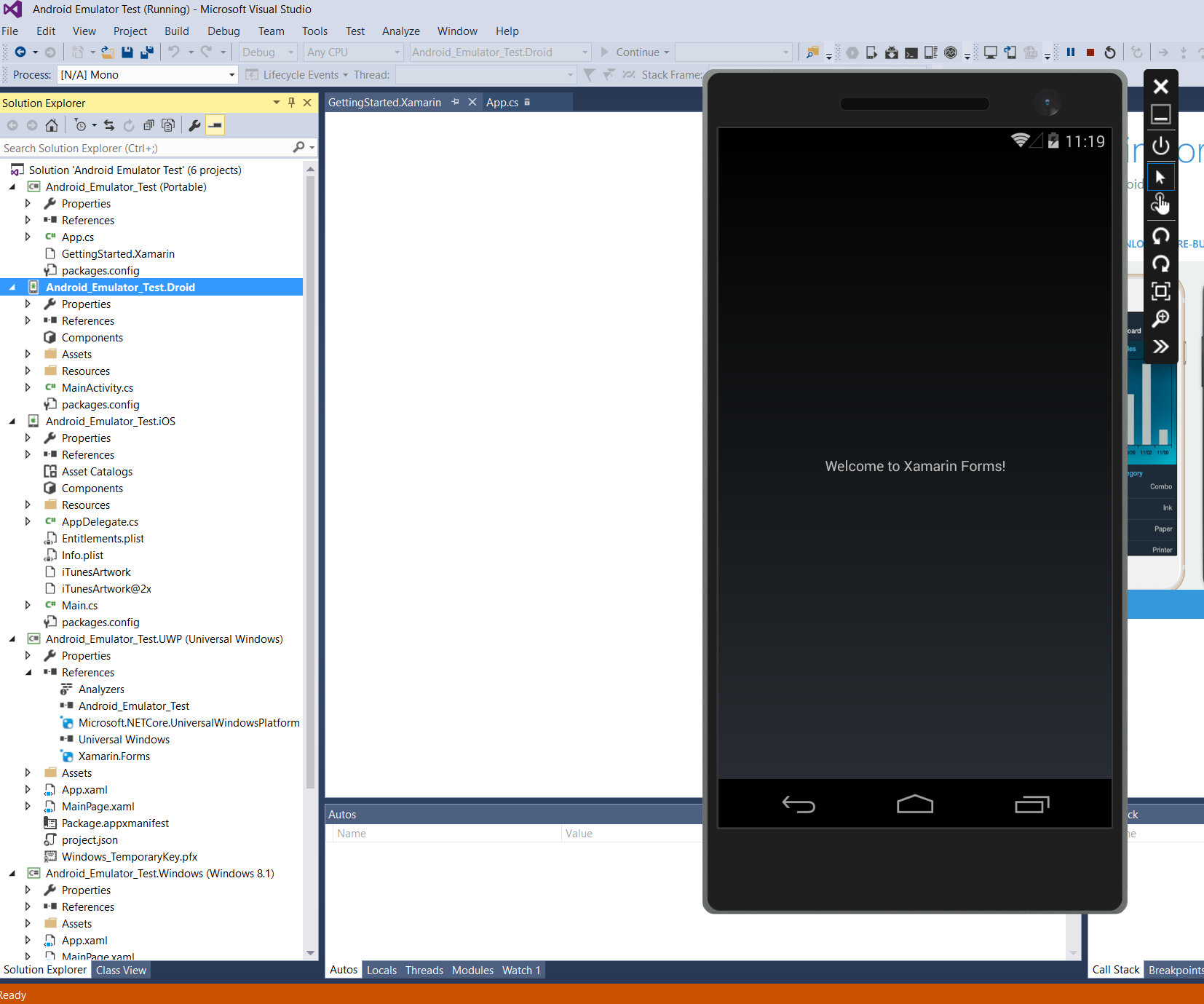 Debug your Xamarin Apps with the Visual Studio Android Emulator