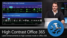 Updates to Office 365 in High Contrast Black Mode on a PC