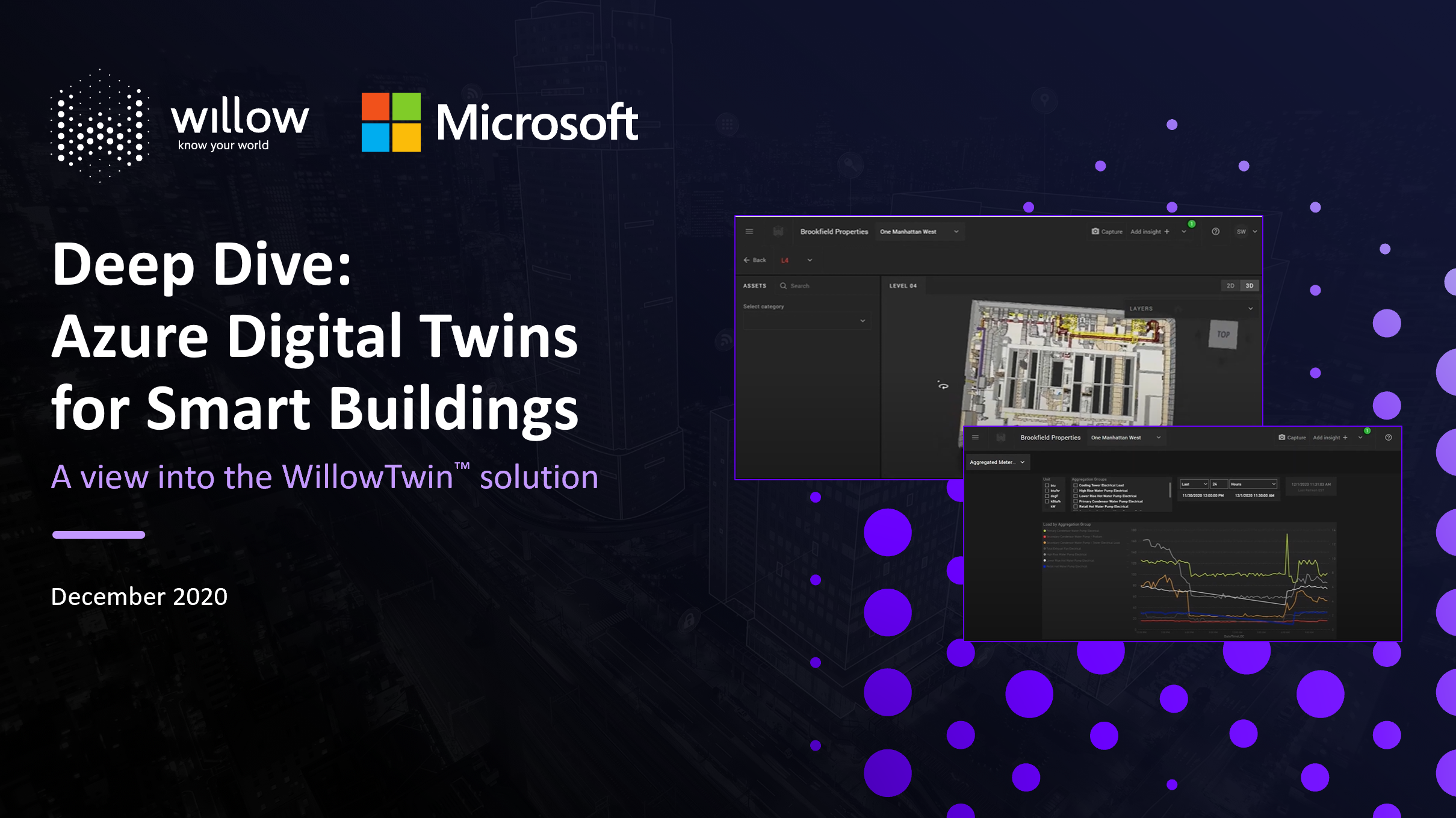 WillowTwin and Microsoft Deep Dive Title slide